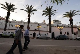 People walk in the streets of Tlemcen on